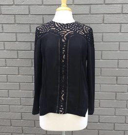 Aliston Lace Blouse Black ORIG 94