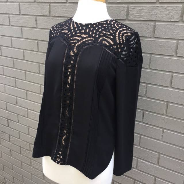 Greylin Aliston Lace Blouse Black ORIG 94