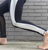 Terez Metallic Racer Stripe Legging w Mesh Insert ORIG 82