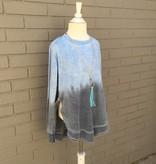 Vintage Havana Dip Dye Side Slit Sweatshirt ORIG 42