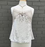 Greylin Teresa Ivory Crushed Velvet Lace Top ORIG 86