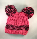 Blade & Rose Chunky Double Pink Bobble Hat