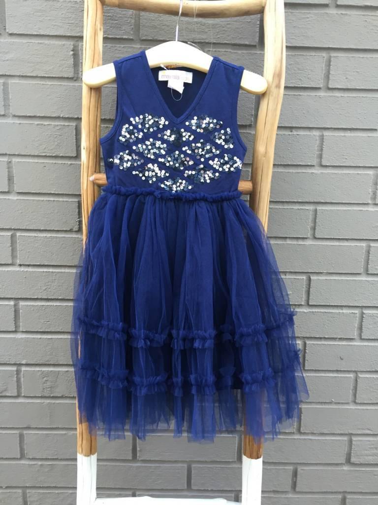 Masala Baby Sophia Sparkle Dress Navy ORIG 64