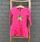 Masala Baby Vivi Pink Dress w Star - Girl