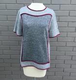 THML Velvet Trim Short Sleeve Top ORIG 56