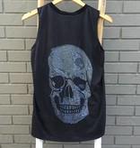 Terez Printed Skull Muscle Tank Black