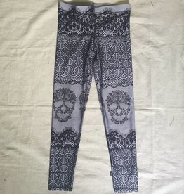 Terez Skullace Leggings Black and White