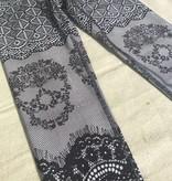 Terez Skullace Leggings Black and White