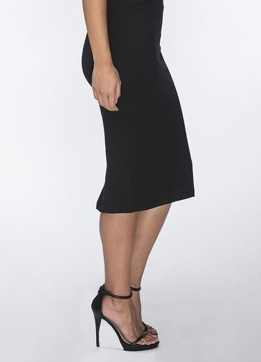 Ricki Black Knit Pencil Skirt