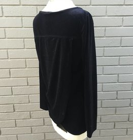 Mod-O-Doc Crossover Back Black Velvet Top ORIG 94