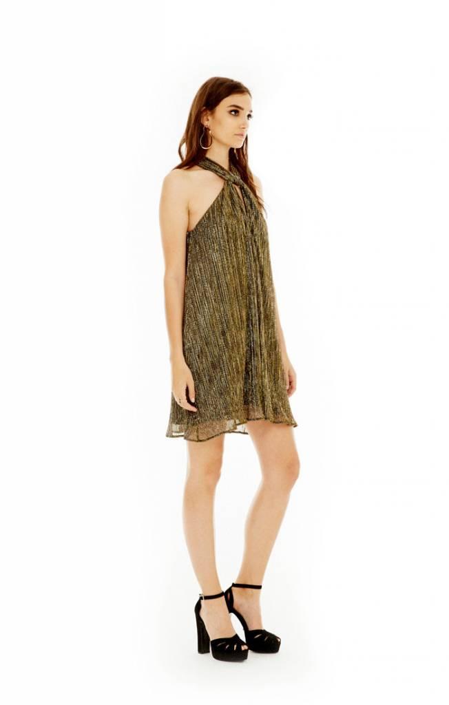 Priscilla Gold Halter Dress ORIG 100