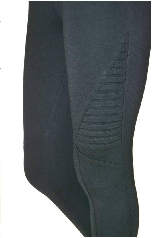Tantrum Ink Trantrum Side Pleat Moto Legging Black