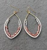 Nakamol WEX4217 Copper Silver Gold Long Hoop Earring
