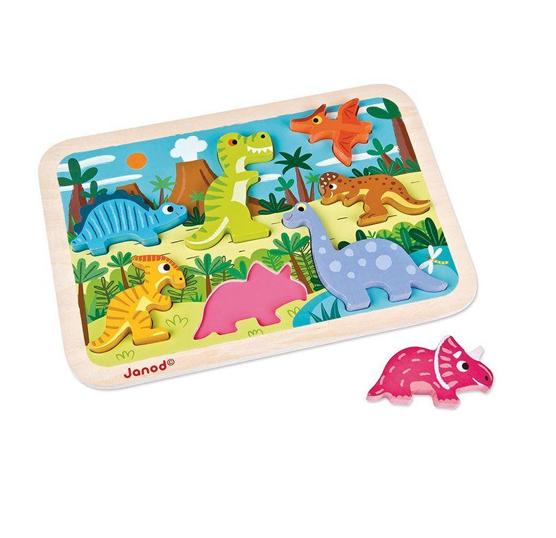 Janod Chunky Puzzle Dinosaurs