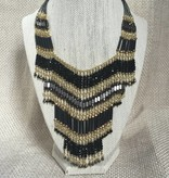 Nakamol WNXP4 Black Gold Statement Necklace