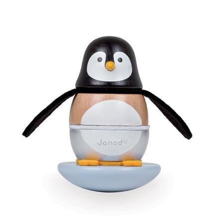 Janod Penguin Stacker Rocker Toy