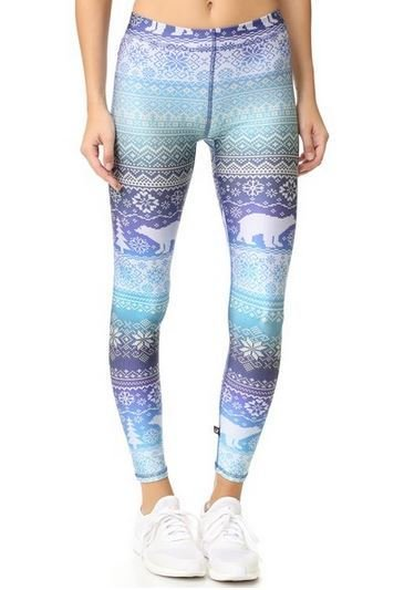 Terez Fair Isle Blue Leggings (Fairisle)