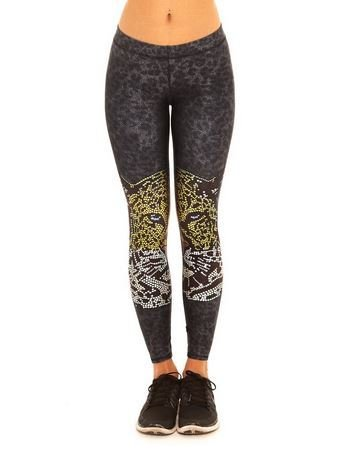 Terez Crystal Leopard Leggings