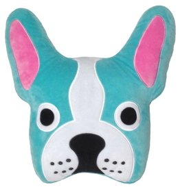 Iscream French Bulldog Embroidered Pillow