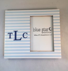 Blue Stripe Personalized Frame