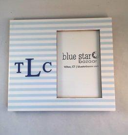 Heartstrings Blue Stripe Personalized Frame