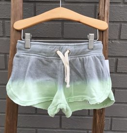 Vintage Havana Green Grey Dip-Dye Burnout Shorts