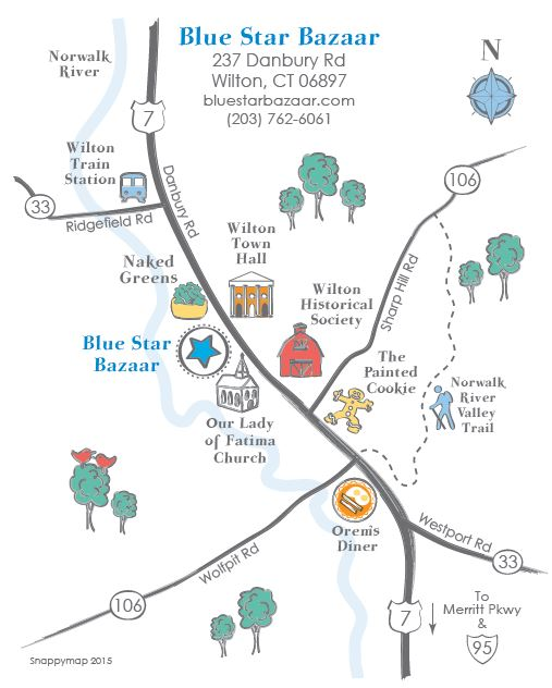 Blue Star Bazaar location map