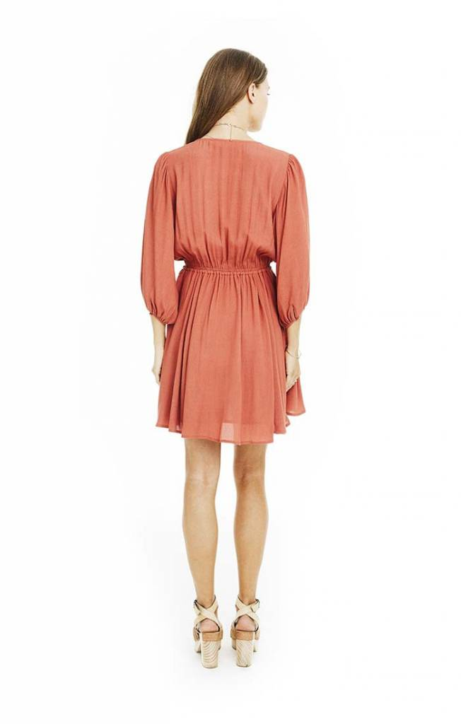 Constance Dress in Brick