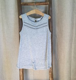 Splendid Grey Heather Ladder Inserts Tank Top