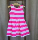 Hot Pink Stripe 'Candy Yum' Cotton Dress