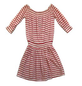 Splendid Off the Shoulder Coral Stripe Dress