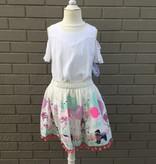 Park Print Pom Pom Skirt 'Candy Yum Fun'