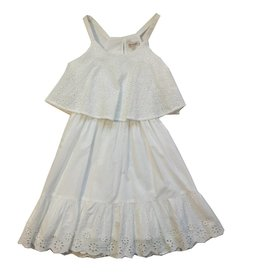 Ella Moss White Tiana Eyelet Dress