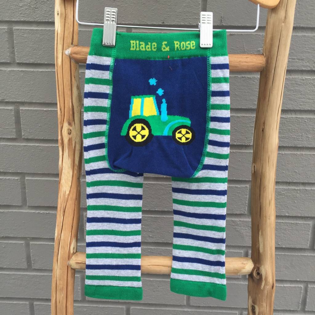 Blade & Rose Tractor Blue Green Leggings
