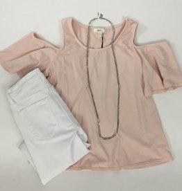 NYTT Pale Pink Cold Shoulder T-Shirt