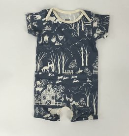 Winterwater Farm Next Door Summer Romper Slate Grey