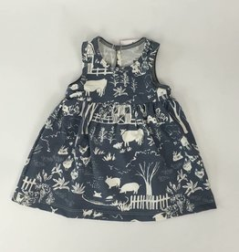 Winterwater Oslo Baby Dress Farm Next Door Slate Grey
