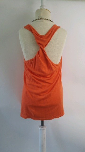 Splendid Red Orange Cross Back Top