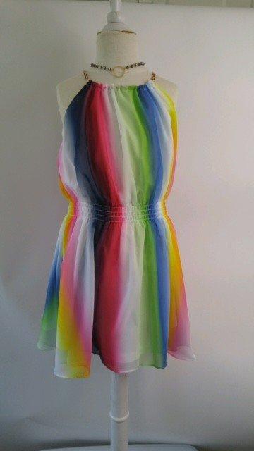 Ella Moss Amber Maxi Dress - Rainbow Stripe
