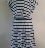 Splendid Indigo Tie Dye Stripe Dress Navy White