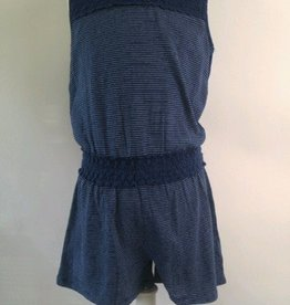 Splendid Romper with Lace in Dark Stone Indigo
