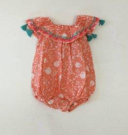 Mandavi Baby Romper Pink Floral Print