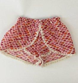 Pink Shell Print Shorts