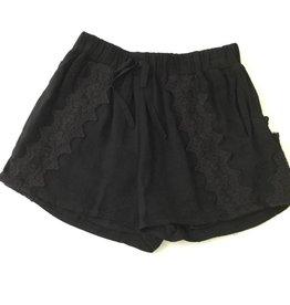 Ella Moss Selma Allover Crochet Short Black