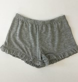 Splendid Seasonal Basics Grey Knit Ruffle Short