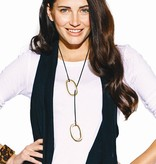 Suede Necklace w Ovals