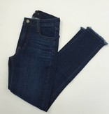 Just Black Clean Frayed Bottom Skinny Jean