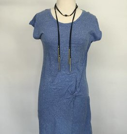 Mod-O-Doc Asymmetrical Twist Front T-shirt Dress Blue