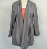 Mod-O-Doc Open Front Cardigan Silver