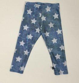 Terez White Denim Stars Capri Legging Girls